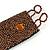 Handmade Boho Style Bronze/ Amber Glass Bead Wristband Bracelet - 16cm L/ 2cm Ext - view 5