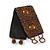Handmade Boho Style Bronze/ Amber Glass Bead Wristband Bracelet - 16cm L/ 2cm Ext - view 6