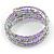 Multistrand Glass, Acrylic Bead Coiled Flex Bracelet (Silver, Lavender) - Adjustable - view 4