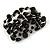Statement Wide Black Glass Bead Multistrand Flex Bracelet - 20cm (Adjustable) Large - view 4