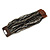 Black/ Grey Glass Bead Multistrand Flex Bracelet With Wooden Closure - 19cm L - view 5