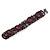 Small Handmade Semiprecious Stone, Ceramic Stone Woven Bracelet - 15cm Long (Brown, Bronze, Purple, Amethyst)