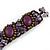 Small Handmade Semiprecious Stone, Ceramic Stone Woven Bracelet - 15cm Long (Brown, Bronze, Purple, Amethyst) - view 5