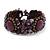 Small Handmade Semiprecious Stone, Ceramic Stone Woven Bracelet - 15cm Long (Brown, Bronze, Purple, Amethyst) - view 3