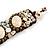 Small Handmade Sea Shell, Ceramic Stone Woven Bracelet - 15cm Long (Brown, Bronze, Antique White) - view 4