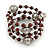 Brown Ceramic Bead with Silver Tone Wire Metal Ball Coiled Flex Bracelet - Adjustable - view 4