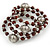 Brown Ceramic Bead with Silver Tone Wire Metal Ball Coiled Flex Bracelet - Adjustable - view 5