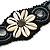 Handmade Boho Style Beaded, Shell Wristband Bracelet (Black, Grey, White) - 16cm L/ 2cm Ext - view 3