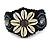 Handmade Boho Style Beaded, Shell Wristband Bracelet (Black, Grey, White) - 16cm L/ 2cm Ext