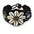 Handmade Boho Style Beaded, Shell Wristband Bracelet (Black, Grey, White) - 16cm L/ 2cm Ext - view 8