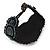 Handmade Boho Style Beaded, Shell Wristband Bracelet (Black, Grey, White) - 16cm L/ 2cm Ext - view 4