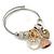Fancy Charm (Tassel, Leaf, Crystal Bead) Flex Twisted Cable Cuff Bracelet In Silver Tone Metal - Adjustable - 17cm L - view 8