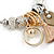 Fancy Charm (Tassel, Leaf, Crystal Bead) Flex Twisted Cable Cuff Bracelet In Silver Tone Metal - Adjustable - 17cm L - view 7