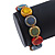 Multicoloured Ceramic Button Bead Stretch Bracelet - 17cm L - view 3
