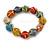 Multicoloured Ceramic Candy Shape Bead Stretch Bracelet - 17cm L