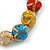 Multicoloured Ceramic Candy Shape Bead Stretch Bracelet - 17cm L - view 2
