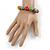 Multicoloured Ceramic Candy Shape Bead Stretch Bracelet - 17cm L - view 3