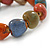 Multicoloured Ceramic Heart Bead Stretch Bracelet - 17cm L - view 4