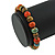 8mm Multicoloured Ceramic Round Bead Stretch Bracelet - 17cm L - view 3