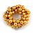Solid Chunky Yellow Glass Bead, Sea Shell Nuggets Flex Bracelet - 18cm L