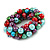 Solid Chunky Multicoloured Glass Bead, Sea Shell Nuggets Flex Bracelet - 18cm L - view 2