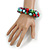 Solid Chunky Multicoloured Glass Bead, Sea Shell Nuggets Flex Bracelet - 18cm L - view 3