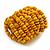 Wide Wooden Bead Flex Bracelet In Yellow - 19cm L - Adjustable - view 5