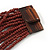 Chocolate Brown Glass Bead Multistrand Flex Bracelet With Wooden Closure - 19cm L - view 6
