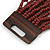 Chocolate Brown Glass Bead Multistrand Flex Bracelet With Wooden Closure - 19cm L - view 7