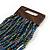 Peacock Glass Bead Multistrand Flex Bracelet With Wooden Closure - 19cm L - view 6