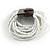 White Glass Bead Multistrand Flex Bracelet With Wooden Closure - 19cm L - view 10