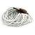 White Glass Bead Multistrand Flex Bracelet With Wooden Closure - 19cm L - view 11
