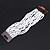 White Glass Bead Multistrand Flex Bracelet With Wooden Closure - 19cm L - view 12