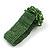 Statement Beaded Flower Stretch Bracelet In Apple Green - 18cm L - Adjustable - view 6