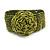 Statement Beaded Flower Stretch Bracelet In Lime Green - 18cm L - Adjustable
