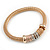Set Of 3 Thick Mesh Flex Bracelets with Polished/ Textured Rings in Gold/ Silver/ Rose Gold - 19cm L - view 6