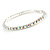 Slim AB Crystal Flex Bracelet In Silver Tone Metal - up to 17cm L - For Small Wrist - view 4