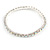 Slim AB Crystal Flex Bracelet In Silver Tone Metal - up to 17cm L - For Small Wrist - view 5