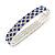 Sapphire Blue/ Clear Flex Bracelet in Silver Tone - 17cm L - view 3