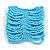 Wide Light Blue Glass Bead Flex Bracelet - Large - up to 22cm wrist