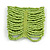 Wide Lime Green Glass Bead Flex Bracelet - Large - up to 22cm wrist