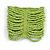 Wide Lime Green Glass Bead Flex Bracelet - Large - up to 22cm wrist