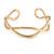 Modern Polished Gold Tone Link Cuff Bracelet - 18cm - view 8