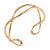Modern Polished Gold Tone Link Cuff Bracelet - 18cm