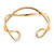 Modern Polished Gold Tone Link Cuff Bracelet - 18cm - view 6