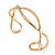 Modern Polished Gold Tone Link Cuff Bracelet - 18cm - view 7