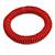 Red Glass Bead Roll Stretch Bracelet - Adjustable