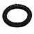 Black Glass Bead Roll Stretch Bracelet - Adjustable