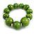 Lime Green Graduated Wood Bead Flex Bracelet - 18cm Long