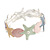 Pastel Multi Enamel Textured Starfish and Shell Flex Bracelet In Silver Tone - 20cm Long - view 5